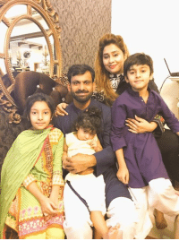 Mohammad Hafeez with his family: Mohammad Hafeez with his family