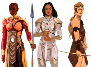 Target, Tumblr, and Blog: mohtz:  Okoye, Valkyrie, Antiope / Leaders of All-female Warriors(speed paint!!)