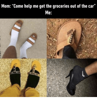 "9gag, Memes, and Help: Mom: ""Come help me get the groceries out of the car""  e: They will do the job.⠀ ⠀ By anesuishec 