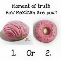 Memes, Mexican, and Truth: Moment of truth  How Mexican are you?  1, or 2. 1 or 2 ?