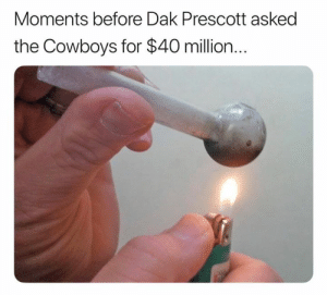 "Dak about to get ""randomly"" drug tested: Moments before Dak Prescott asked  the Cowboys for $40 million... Dak about to get ""randomly"" drug tested"