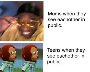 29 Dank Memes 2019 so Hilarious 2: Moms when they  see eachother in  public.  Teens when they  see eachother in  public. 29 Dank Memes 2019 so Hilarious 2