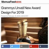 Aesthetic accuracy: 10-10: MomusFeedNEWS  Grammys Unveil New Award  Design For 2019  Posted on February 10, 2019, 06:59 EST  adam.the.creator Aesthetic accuracy: 10-10