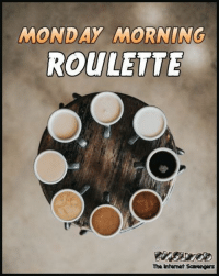 <p>Hilarious Monday meme zone  New week funnies  PMSLweb </p>: MONDAY MORNING  ROULETTE  The Internet Scavengers <p>Hilarious Monday meme zone  New week funnies  PMSLweb </p>