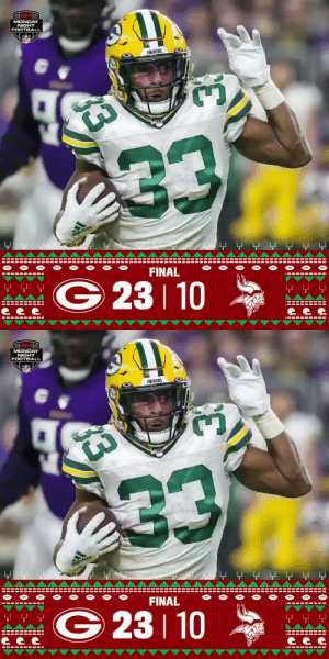 FINAL: The @packers win the NFC North! 👑 #GoPackGo #GBvsMIN  (by @Lexus) https://t.co/7lNUXRrToj: MONDAY  NIGHT  FOOTBALL  NFL  PACKERS  233  adidas  -보 모 모모모 모모  FINAL  WG 23 10  모 모모  ---- ---- --  -----  ---  33   MONDAY  NIGHT  FOOTBALL  NFL  PACKERS  233  adidas  FINAL  모 모모  G 23 10  *  모 모 모  ---- ---- --  ---- ---  33 FINAL: The @packers win the NFC North! 👑 #GoPackGo #GBvsMIN  (by @Lexus) https://t.co/7lNUXRrToj