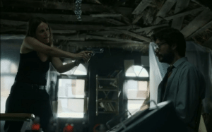 Money Heist : Season 2 Episode 5, That's The Weirdest Way A Cop Holds A Gun. It's Not Just The Picture, If You Go Back To That Scene, Even More The Video.: Money Heist : Season 2 Episode 5, That's The Weirdest Way A Cop Holds A Gun. It's Not Just The Picture, If You Go Back To That Scene, Even More The Video.