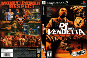 Hey EA, love the new Star Wars game. While you're creating this new positive track record, how about a reboot of this franchise?: MONEY POWER  HESPECT  PlayStation.2  NTSC U/C  FEATURING  DMX  LUDACRIS  METHOD MAN  N.O.RE.  REDMAN  SCARFACE  WC  AND MORE  The New  King of the  Ring  aysalion 2  Magarinc  Cinematic  Story Mode  Over 40  Street BraWlers  am  VENDETTA  Battletothe Top  1500MOVES  The Hottest Def Jam Artists and Music  1-2 Piayers Memory Card or PS2)-88 KB Analog Control  Vibraton Function Mubtap dor PS2)-1-4 Players DeflamVendetta.com  TEEN  DDOLBY  ouND  Strong Language  Strong Lyrics  Suggestive Themes  Violence  OLOGIO  Eletso Ats ic 200 Rwood Shes Priy, Redoed City,. CA 943  o200 co A Eecto Ar EA SPORTS Pe EA SPORTS loge EA SPORTTS BG and the EA SPORTS BG  g ae adearls or registend tradaris of Eectronic An ne in e US andr oer courtries All FRights  Rred De Jam and Del MEa and al scaed s and as ae used der oense o  TEEN  DVD  BIG  ROM  SLUS  20639  of hor m owns Develod y A USA EA SPORTS ad EA SPORTS B a Electronk Art  bands Lceed tor play an the Plrycaton 2 crper s vh the NTS0C deignaen ony  SPORTS  NTSC UC  NTENT RATED  ESRB  14653 144291  COMPATLE TH PLAYSTATON 2 CON5OLES WTH HE NTSC UC DESIGNATION US AND FOREGN PATINTS  PENCG 4291  PlayStation.2  VENDETTA  BIG Hey EA, love the new Star Wars game. While you're creating this new positive track record, how about a reboot of this franchise?