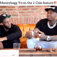 Friends, J. Cole, and Memes: Moneybagg Yo on the J. Cole feature!! Says jcole was bumping moneybaggyo singles while he was mixing kod ‼️ Follow @bars for more ➡️ DM 5 FRIENDS