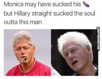 """<p><strong>Soul Sucka</strong></p><p><a href=""""http://www.ghettoredhot.com/soul-sucka/"""">http://www.ghettoredhot.com/soul-sucka/</a></p>: Monica may have sucked his  but Hillary straight sucked the soul  outta this man <p><strong>Soul Sucka</strong></p><p><a href=""""http://www.ghettoredhot.com/soul-sucka/"""">http://www.ghettoredhot.com/soul-sucka/</a></p>"""