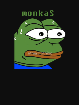 """MonkaS Sweating Pepe Twitch Emote"""" T-shirt by etherclothing   Redbubble: monkaS  etherclothing MonkaS Sweating Pepe Twitch Emote"""" T-shirt by etherclothing   Redbubble"""