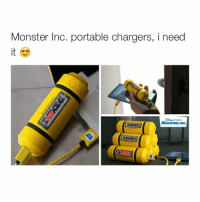 Monster Inc. portable chargers, i need  PIXAR  AMONSTERS, INC. good morning by the way :)
