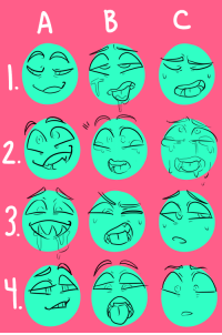 Meme, Target, and Tumblr: monstersthatbite:  i was in a funk so i made an expression meme. Feel free to message me requests for my own ocs or reblog for your own use for whatever~~