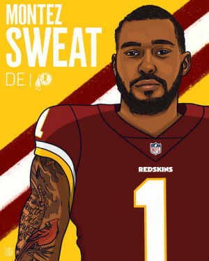 The @Redskins trade up for Montez Sweat! 🚨  #NFLDraft https://t.co/YY53xVpkNu: MONTEZ  SWEAT  DEIO  NFL  REDSKINS The @Redskins trade up for Montez Sweat! 🚨  #NFLDraft https://t.co/YY53xVpkNu