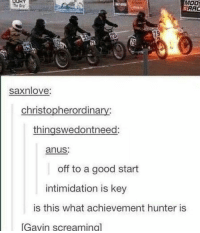 MOO!  RAC  saxnlove:  christopherordinary:  thingswedontneed  anus:  off to a good start  intimidation is key  is this what achievement hunter is  Gavin screaming] I can confirm, this is ah