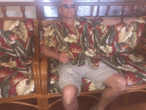 Target, Tumblr, and Blog: moontouched-moogle: theagenderprince:  my uncle derek went out to a restaurant and discovered that the couch in the lounge is the same print as his shirt  Camo Index 90%