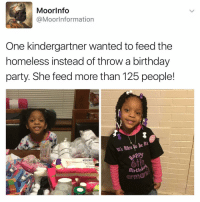 Memes, Moors, and 🤖: Moor Info  MoorInformation  One kindergartner wanted to feed the  homeless instead of throw a birthday  party. She feed more than 125 people!  it's luce be  Birthd  orm Follow Us on Twitter @moorinformation Link In The Description Box Above! [Click The Link]