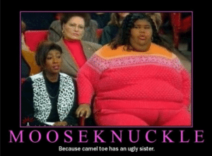 ....: MOOSEKNUCKLE  Because camel toe has an ugly sister. ....