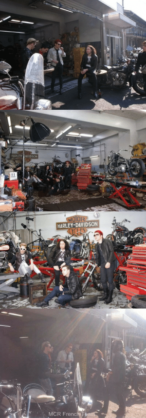 killjoyhistory:  My Chemical Romance Behind the scenes of My Chemical Romance's photoshoot with Saito Ogata for Rolling Stone Japan (2011). Photographer unknown. : MOR  HARLEY DAVIDSON   MOTOR2  HARLEY-DAVIDSON  os   MCR FrenchTeam killjoyhistory:  My Chemical Romance Behind the scenes of My Chemical Romance's photoshoot with Saito Ogata for Rolling Stone Japan (2011). Photographer unknown.