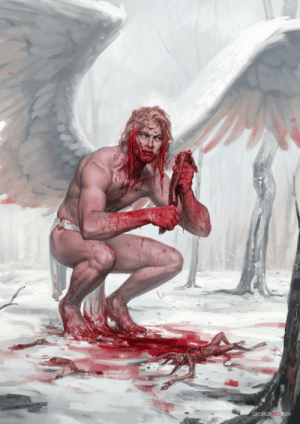 morbidfantasy21:  Archangel by George REDreev     @ask-lord-commander-dante Hey isn't that your Primarch: morbidfantasy21:  Archangel by George REDreev     @ask-lord-commander-dante Hey isn't that your Primarch