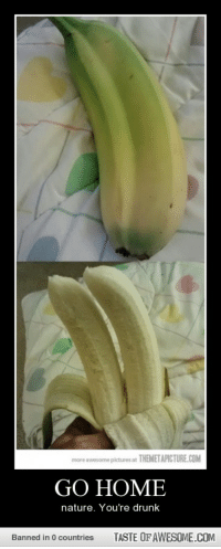 Drunk, Love, and Banana: more awesome pictures at THEMETAPICTURE.COM  GO HOME  nature. You're drunk  Banned in 0 countries  TASTE OF AWESOME.COM Am i the only one who thinks this is awesome and would love to find a double banana?