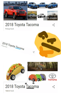 Toyota, Images, and Dank Memes: More images  2018 Toyota Tacoma  Pickup truck  2018 Toyota Tacoma  Pickup truck  TOYOTA  2018 Toyota Tacoma  taco truck