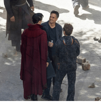More Infinity War set pics. RDJ and Mark seem to be wearing stand in clothes for later CGI? Maybe? But Bennie looked fly in that cape. Also, I hope someone snuck in a Sherlock joke somewhere. Picture credit to the Associated Press. benedictcumberbatch benedictwong robertdowneyjr markruffalo marvel infinitywar ironman hulk wong doct: More Infinity War set pics. RDJ and Mark seem to be wearing stand in clothes for later CGI? Maybe? But Bennie looked fly in that cape. Also, I hope someone snuck in a Sherlock joke somewhere. Picture credit to the Associated Press. benedictcumberbatch benedictwong robertdowneyjr markruffalo marvel infinitywar ironman hulk wong doct