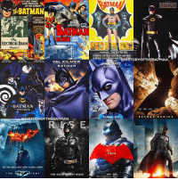 """Good Knight Gothamites! With the release of a new Batman poster for the DCEU film 'Justice League', I leave you tonight with an account edit featuring Batman centric movie posters from live action features 'Batman' in 1943 to 'Justice League' in 2017 (bottom right image)! Which movie poster is your favorite? Tomorrow we'll have more of our session """"The Women of DC Comics: A Retrospect"""", a new round of Nerdy Tats Friday and more teaser trailers from @JusticeLeague, set to hit theaters November 17! As always, thanks for following and all of the constant support, have a great night and we will have more History of the Batman tomorrow. Remember Gothamites, it's all about Peace, Love and Batman! ✌🏼💙🦇📽: MORE  NEW  ELECTRICAL BRAIN  Chapter 1  DEVITO  PFEIFFER  VAL KILMER  KEATON  BATMAN  RETURNS  STORY OFTHEBATMAN  RK KNIGHT RISES  THE DAR  EAMAN  g@HISTORY OFTHEBAT  AN  ATM N  BAT MAN  BE G  NS  NEr  25,16 Good Knight Gothamites! With the release of a new Batman poster for the DCEU film 'Justice League', I leave you tonight with an account edit featuring Batman centric movie posters from live action features 'Batman' in 1943 to 'Justice League' in 2017 (bottom right image)! Which movie poster is your favorite? Tomorrow we'll have more of our session """"The Women of DC Comics: A Retrospect"""", a new round of Nerdy Tats Friday and more teaser trailers from @JusticeLeague, set to hit theaters November 17! As always, thanks for following and all of the constant support, have a great night and we will have more History of the Batman tomorrow. Remember Gothamites, it's all about Peace, Love and Batman! ✌🏼💙🦇📽"""