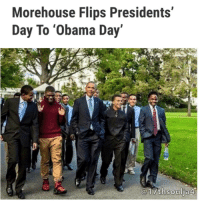 "Another opportunity to shed light and love on former President BarackObama happened Monday (Feb. 19) when Morehouse College helped led a celebratory movement with the replacement of President's Day for ""Obama Day.""Presented by NewsOne, conversations on Obama's legacy, as well as the influence of former first lady MichelleObama, were highlighted at the historic institution by author and academic Michael Eric Dyson, activist Michaela Angela Davis, New York Magazine's Rembert Browne, Jamilah Lemieux of Interactive One and more. From panels on the Affordable Care Act to Obama's connection to people of color, no topic went overlooked. The same happened online as those who supported the former POTUS praised his legacy online.Obama also saw another accomplishment when he was named the 12th best president among historians. For the first time, Obama was eligible for the CSPAN-headed survey which asks 91 historians to rate the previous 43 presidents across ten categories. The categories include, ""Public Persuasion,"" ""Crisis Leadership,"" ""Economic Management,"" ""Moral Authority,"" ""International Relations,"" ""Administrative Skills,"" ""Relations with Congress,"" ""Vision-Setting An Agenda,"" ""Pursued Equal Justice for All,"" and ""Performance Within the Context of His Times."" Bill Clinton landed at 15, George Bush at 20, the late John F. Kennedy at 8 and Abraham Lincon at number 1. People also took to the streets for ""Not My President's Day,"" a rally featuring those against President Donald Trump. CNN reports demonstrations took place in New York, Chicago, and Los Angeles to continue the ""momentum"" of the historic Women's March in January. 17thsoulja BlackIG17th presidentsday: Morehouse Flips Presidents'  Day To 'Obama Day  @17th thsoulj Another opportunity to shed light and love on former President BarackObama happened Monday (Feb. 19) when Morehouse College helped led a celebratory movement with the replacement of President's Day for ""Obama Day.""Presented by NewsOne, conversations on Obama's legacy, as well as the influence of former first lady MichelleObama, were highlighted at the historic institution by author and academic Michael Eric Dyson, activist Michaela Angela Davis, New York Magazine's Rembert Browne, Jamilah Lemieux of Interactive One and more. From panels on the Affordable Care Act to Obama's connection to people of color, no topic went overlooked. The same happened online as those who supported the former POTUS praised his legacy online.Obama also saw another accomplishment when he was named the 12th best president among historians. For the first time, Obama was eligible for the CSPAN-headed survey which asks 91 historians to rate the previous 43 presidents across ten categories. The categories include, ""Public Persuasion,"" ""Crisis Leadership,"" ""Economic Management,"" ""Moral Authority,"" ""International Relations,"" ""Administrative Skills,"" ""Relations with Congress,"" ""Vision-Setting An Agenda,"" ""Pursued Equal Justice for All,"" and ""Performance Within the Context of His Times."" Bill Clinton landed at 15, George Bush at 20, the late John F. Kennedy at 8 and Abraham Lincon at number 1. People also took to the streets for ""Not My President's Day,"" a rally featuring those against President Donald Trump. CNN reports demonstrations took place in New York, Chicago, and Los Angeles to continue the ""momentum"" of the historic Women's March in January. 17thsoulja BlackIG17th presidentsday"