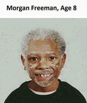 Amazing: Morgan Freeman, Age 8 Amazing