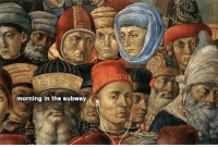 Subway, Classical Art, and Morning: morning in the subway