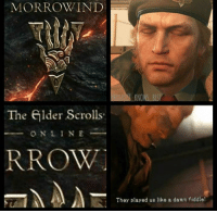 WAS I THE ONLY ONE?! Seriously this hurt my feels when I realised it was for ESO -.- -TheFiveTenets: MORROW IND  The elder Scrolls  O N L I N E  RROW  They played us like a dann fiddle! WAS I THE ONLY ONE?! Seriously this hurt my feels when I realised it was for ESO -.- -TheFiveTenets