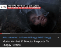 Mortal Kombat 11 Director Responds To Shaggy Petition Svg