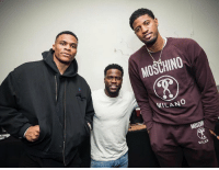 Westbrook, Kevin Hart & Paul George #IrresponsibleTour https://t.co/yOtyo7ZvMO: MOSCHINO  MILANO  MILAD Westbrook, Kevin Hart & Paul George #IrresponsibleTour https://t.co/yOtyo7ZvMO