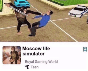 ok so basically im monky: | Moscow life  simulator  Royal Gaming World  T Teen ok so basically im monky