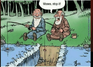 Tumblr, Blog, and Moses: Moses, stop it! srsfunny:  Found this gem online
