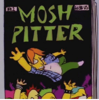 """Memes, Been, and 🤖: MOSH  NOM  RITTER """"Mosh Pitter"""" magazine. Must have been a Slugfest show. From @jimibritches"""