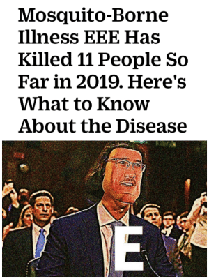 Meme, Dank Memes, and Old: Mosquito-Borne  Illness EEE Has  Killed 11 People So  Far in 2019. Here's  What to Know  About the Disease  34  E Old meme but...