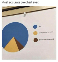 Knowledge is power: Most accurate pie chart ever.  Sunny side of pyramid  Shady side of pyramid Knowledge is power