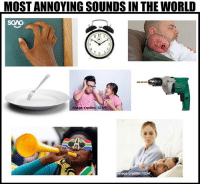 Memes, Image, and World: MOST ANNOYING SOUNDS IN THE WORLD  SGAG  1 E I  12  Image credits: 123rf  mage credits: 123f My ears!!!!