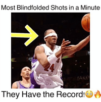 Most Blindfolded Shots in ONE Minute 😨🏀🔥 Follow @dunkfilmz for More!: Most Blindfolded Shots in a Minute  They Have the Record! Most Blindfolded Shots in ONE Minute 😨🏀🔥 Follow @dunkfilmz for More!