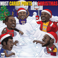 Sports, Bulls, and Kobe: MOST  CAREER ONL  RISTMAS  OAKE  BULLS  br Kobe leads all players on Christmas Day! ☃️🎅🎄