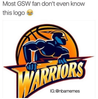 Tag the biggest GSW bandwagon 😂😂😂😂: Most GSW fan don't even know  this logo  ORS  IG: anbamemes Tag the biggest GSW bandwagon 😂😂😂😂