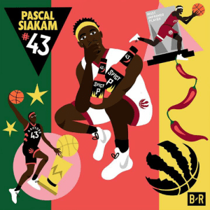 "Rap, Game, and Spicy: MOST  IMPROVED  PLAYER  PASCAL  SIAKAM  $43  43  43  SPICY  SPICY  RAP  ""43°  R  B R Spicy P stepped his game up in 2019 to get Most Improved 💯 #NBAAwards"