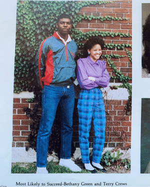 """Terry Crews, Green, and Succeed: Most Likely to Succeed-Bethany Green and Terry Crews Terry crews 1986 """"most likely to succeed """""""