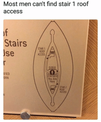Hmmmm... Fellas? | follow me @lei.ying.lo for more.: Most men can't find stair 1 roof  access  Stairs ,AIR  se  ROOF  ACCESS  FIED  ORN  You Are  Here  STAIR 2  ROOF  ACCESS Hmmmm... Fellas? | follow me @lei.ying.lo for more.