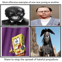 Most Offensive: Most offensive examples of one race posing as another  www.Bandicam.com  Share to stop the spread of hateful prejudices