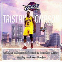 STAT: Tristan Thompson passed Anderson Varejao for 3rd on the Cavs' all time offensive rebounding list 🔥🏀🔥: Most Offensive Rebounds in Franchise  Passing Anderson Varejao STAT: Tristan Thompson passed Anderson Varejao for 3rd on the Cavs' all time offensive rebounding list 🔥🏀🔥