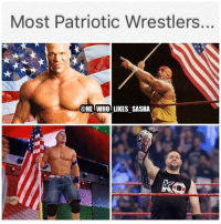 America, Memes, and Wrestling: Most Patriotic Wrestlers.  @HE WHO LIKES SASHA Happy that Cena picked up the W tonight and that the face of America Kevin Owens regained his us title 🙌. wwe wwememe wwememes usa kurtangle hulkhogan hulkamania johncena rusev hustleloyaltyrespect youcantseeme kevinowens fightowensfight ajstyles samizayn wrestler wrestling prowrestling professionalwrestling wweuniverse wwenetwork wwesuperstars raw wweraw smackdown smackdownlive sdlive wwebattleground battleground nxt