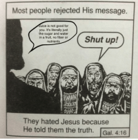"""Good for You, Jesus, and Juice: Most people rejected His message.  Juice is not good for  you. It's literally just  the sugar and water  in a fruit, no fiber or  nutrients  They hated Jesus because  He told them the truth. Gal. 4:16 <p>Truth memes might make a comeback, I suggest investing and waiting for a spike. via /r/MemeEconomy <a href=""""http://ift.tt/2qvgMsq"""">http://ift.tt/2qvgMsq</a></p>"""