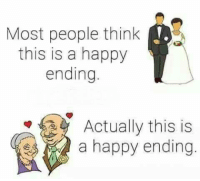 Memes, 🤖, and Happy Endings: Most people think  this is a happy  ending.  Actually this is  a happy ending